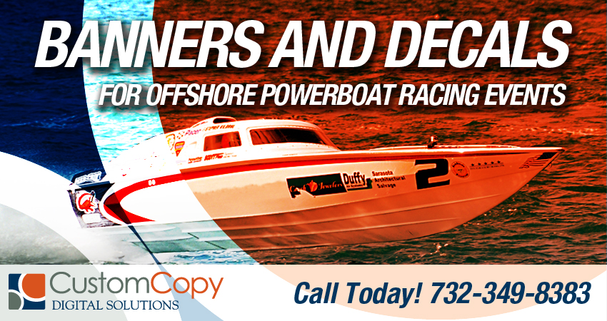 Banners and Decals for Powerboats
